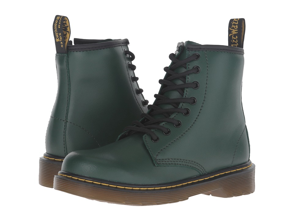 Dr. Martens Kid's Collection - Delaney Lace Boot (Little Kid/Big Kid) (Green) Kids Shoes
