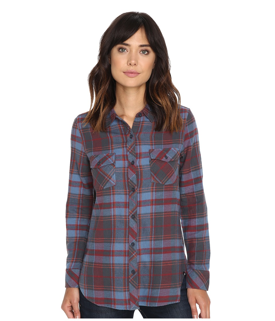 Volcom - Cozy Day Long Sleeve Top (Crimson) Women's Long Sleeve Button Up