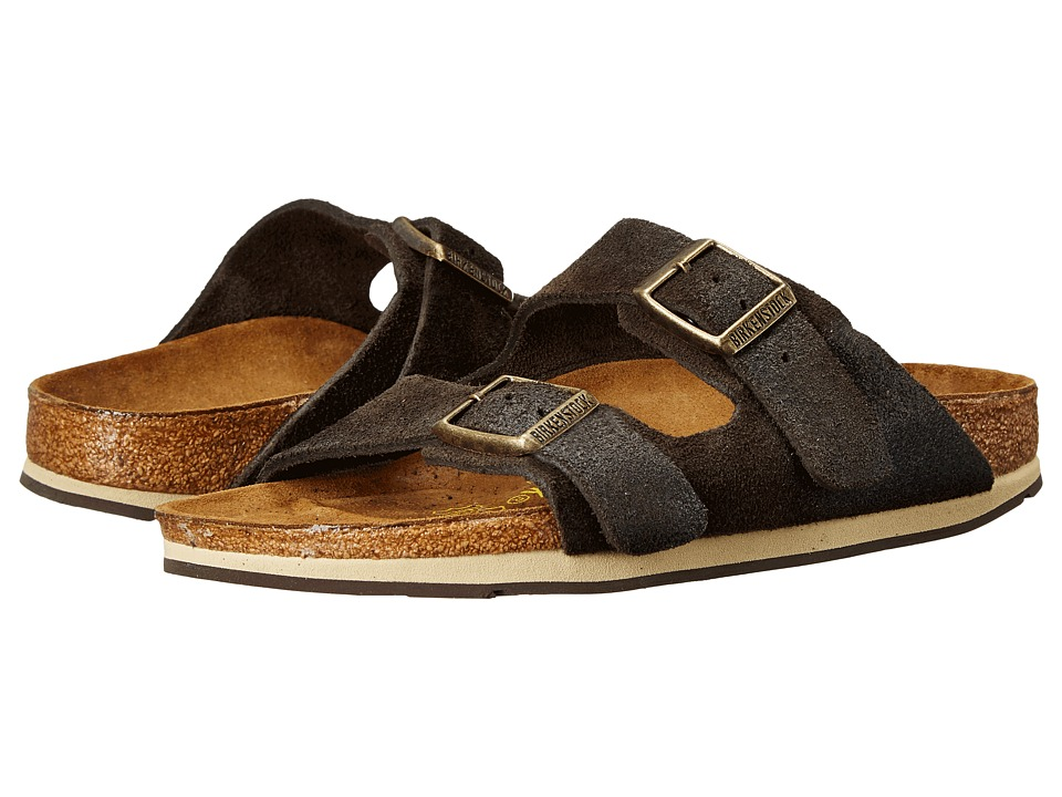 Birkenstock - Arizona Sport (Brown Waxed Suede) Sandals