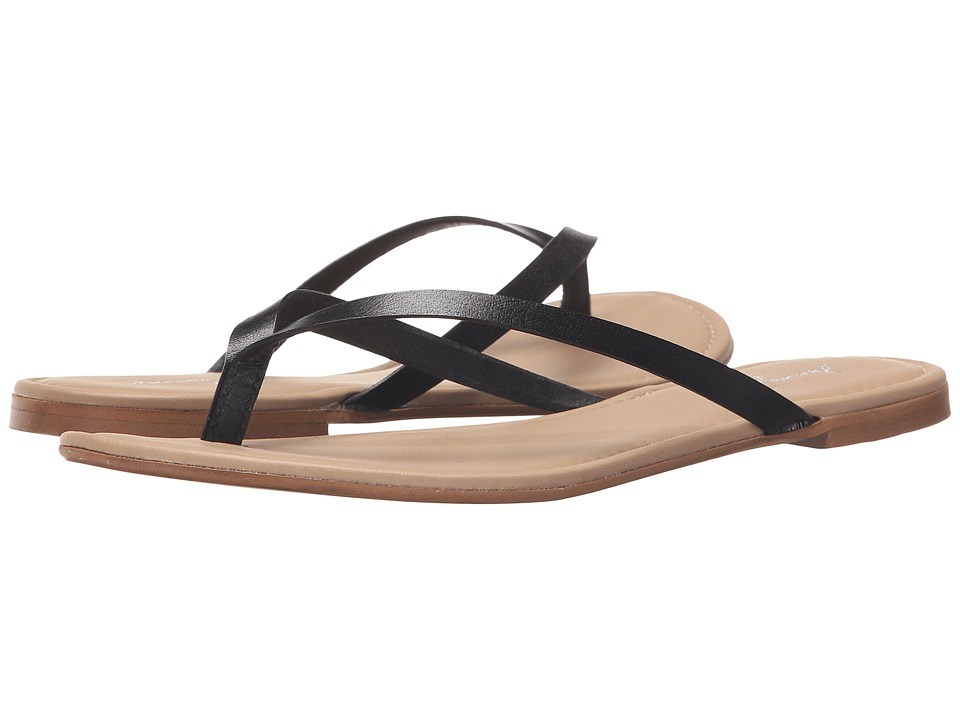 Massimo Matteo - Thong (Black) Women's Sandals
