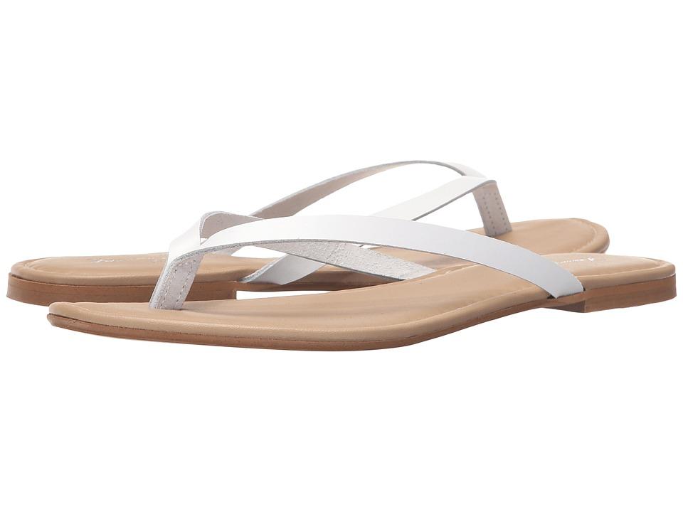Massimo Matteo - Thong (White) Women's Sandals