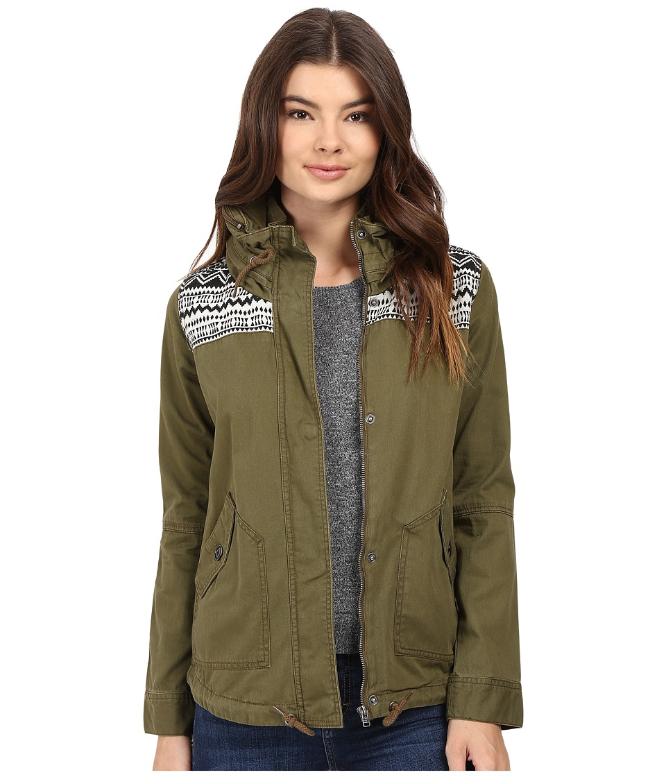 Roxy - Winter Cloud Jacket (Military Olive) Women's Coat