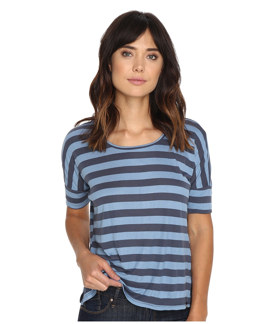 Volcom - Don't Tell Crew Top (Chambray) Women's Short Sleeve Pullover