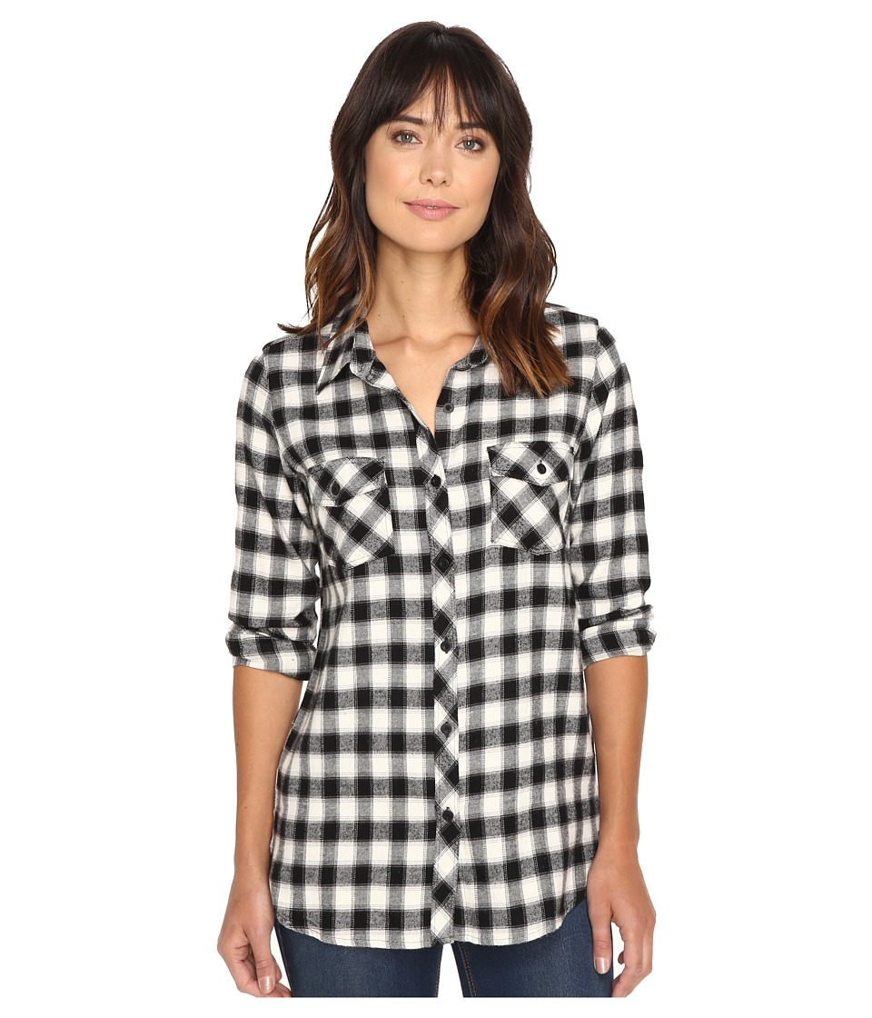 Volcom - Cozy Day Long Sleeve Top (Black) Women's Long Sleeve Button Up