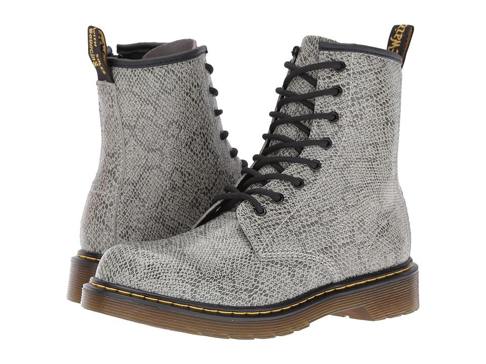 Dr. Martens Kid's Collection - Delaney Boots (Big Kid) (Light Grey) Kids Shoes