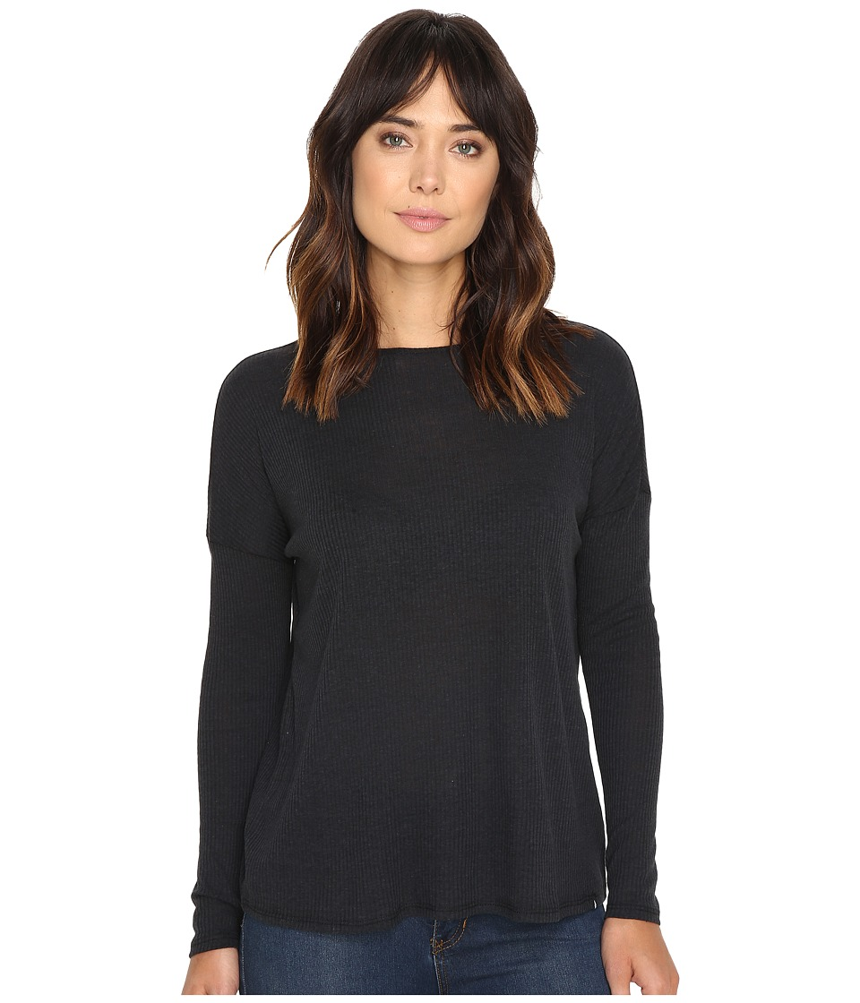 Volcom - Lived In Go Pullover Crew (Black) Women's Long Sleeve Pullover