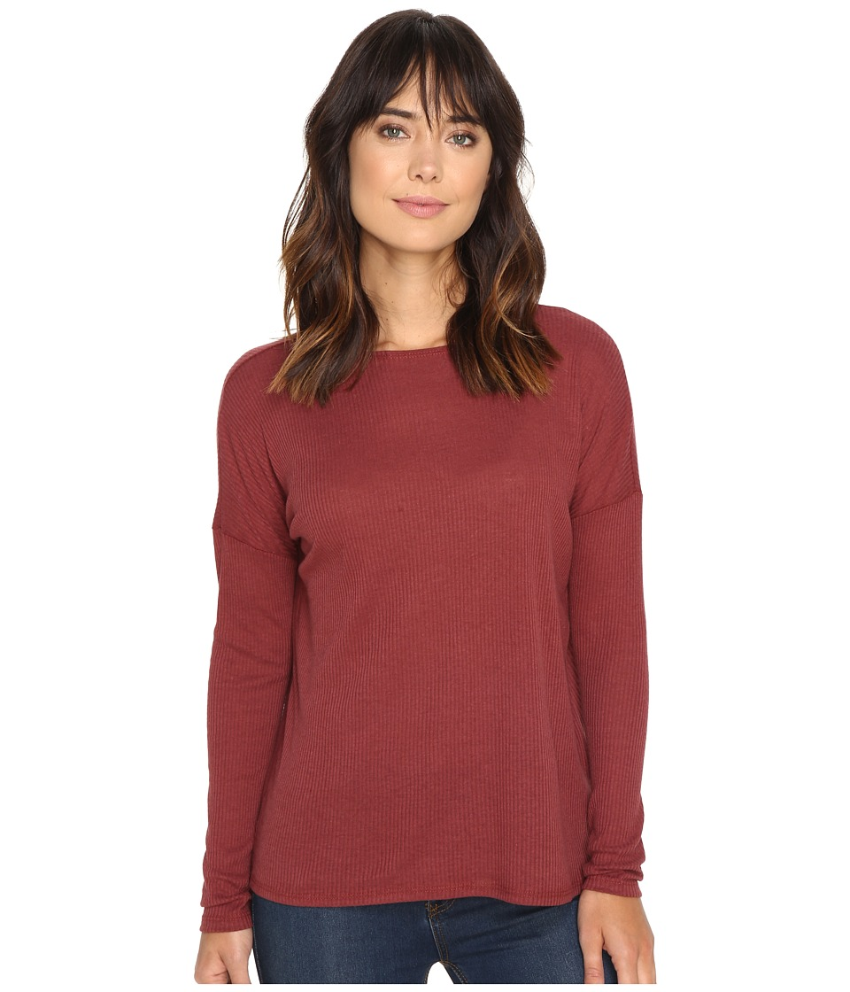 Volcom - Lived In Go Pullover Crew (Crimson) Women's Long Sleeve Pullover