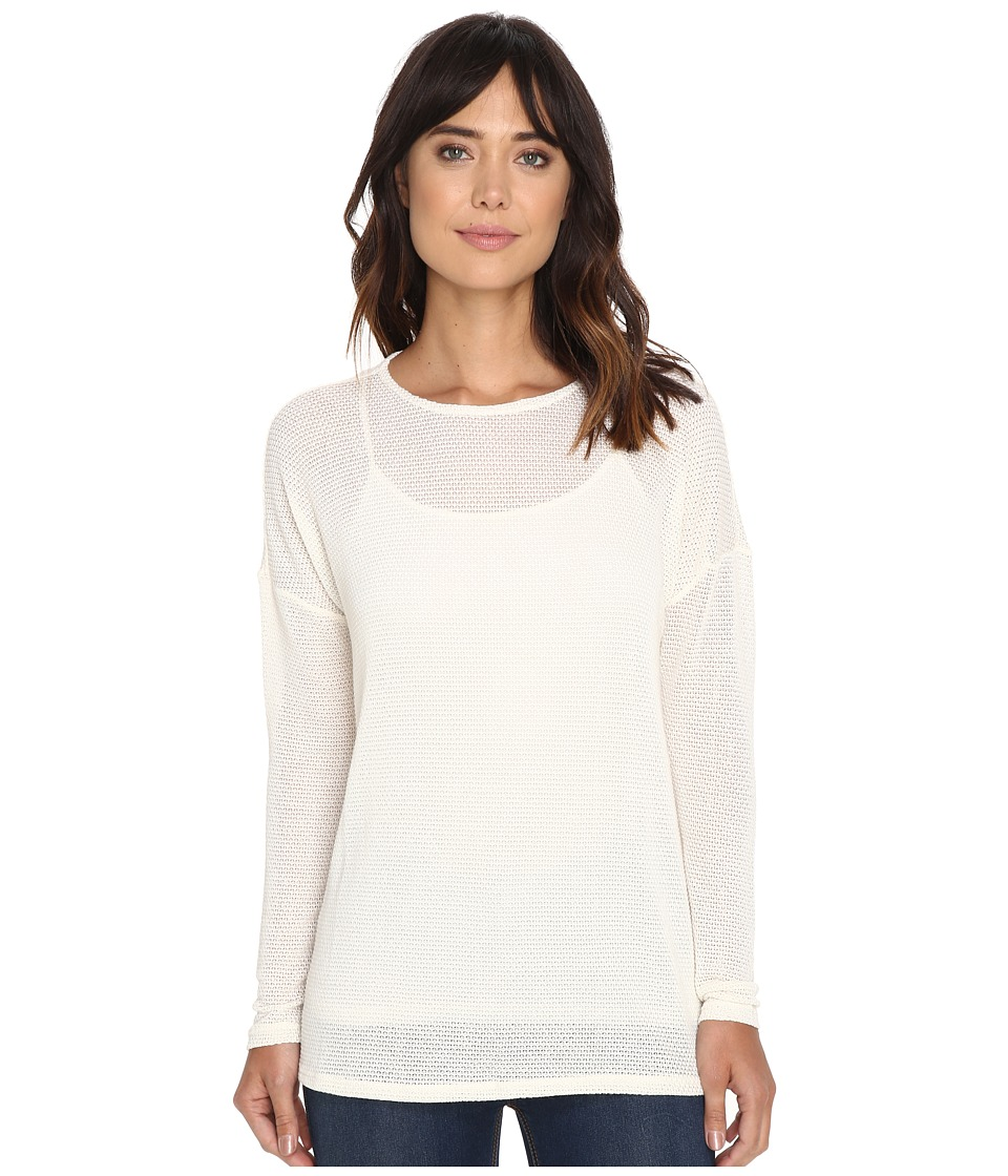 Volcom - Lived In Go Pullover Crew (Vintage White) Women's Long Sleeve Pullover