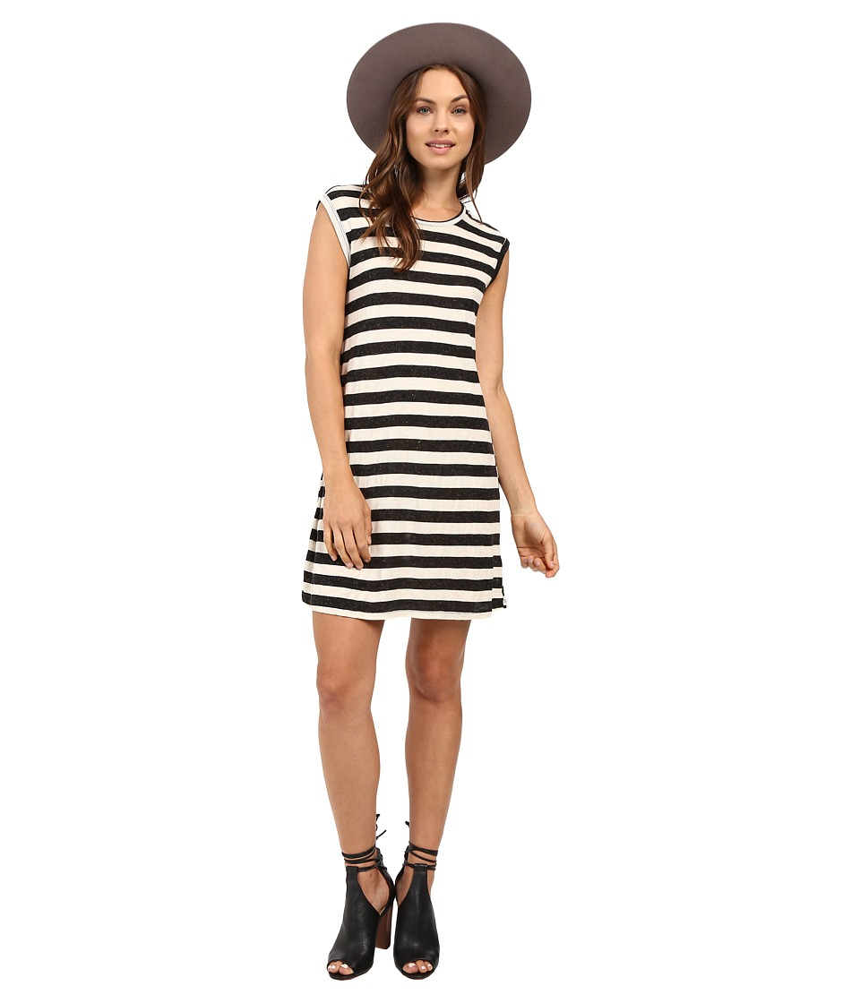 Volcom - Lived in Rib Dress (Black Combo) Women's Dress