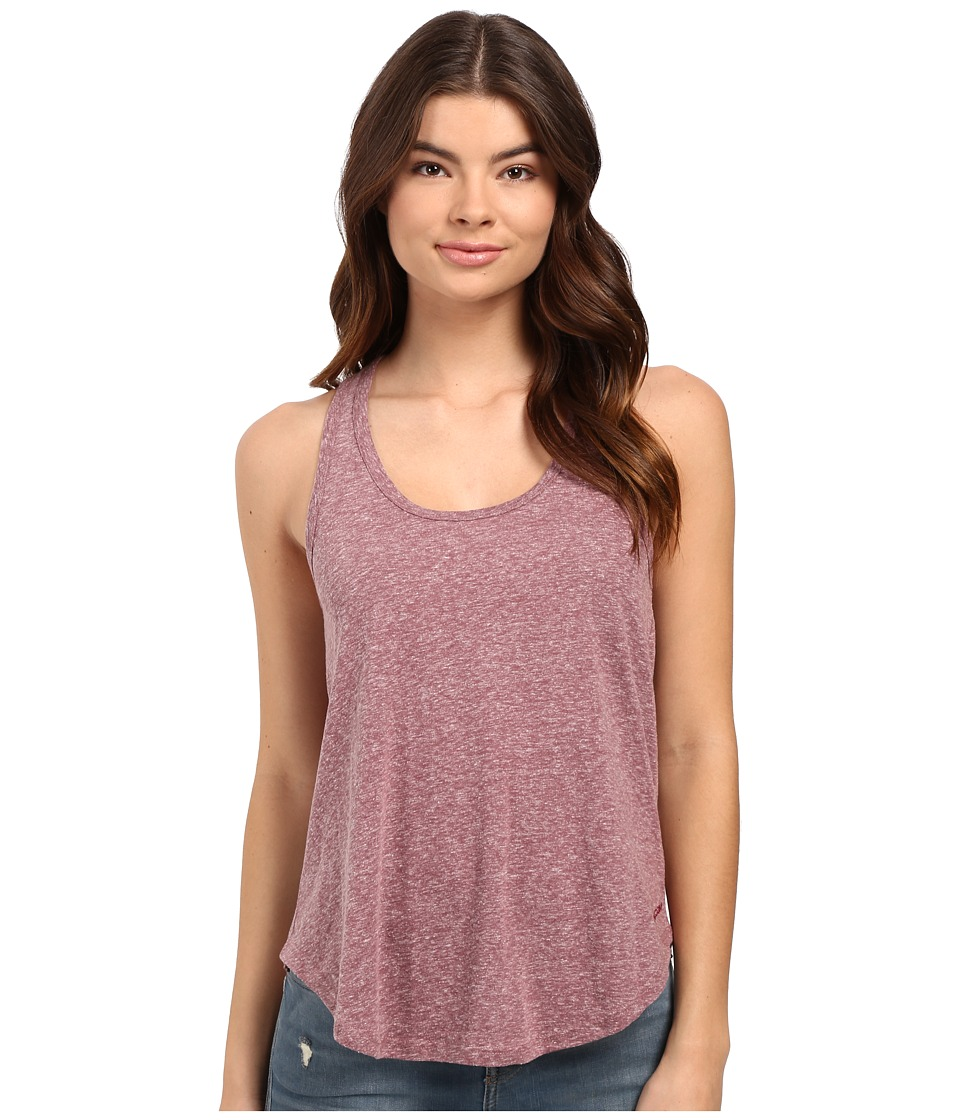 Volcom - Lived In Snow Tank Top (Crimson) Women's Sleeveless