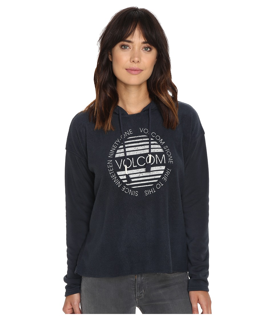 Volcom - Lived In Pullover Hoodie (Dark Navy) Women's Sweatshirt