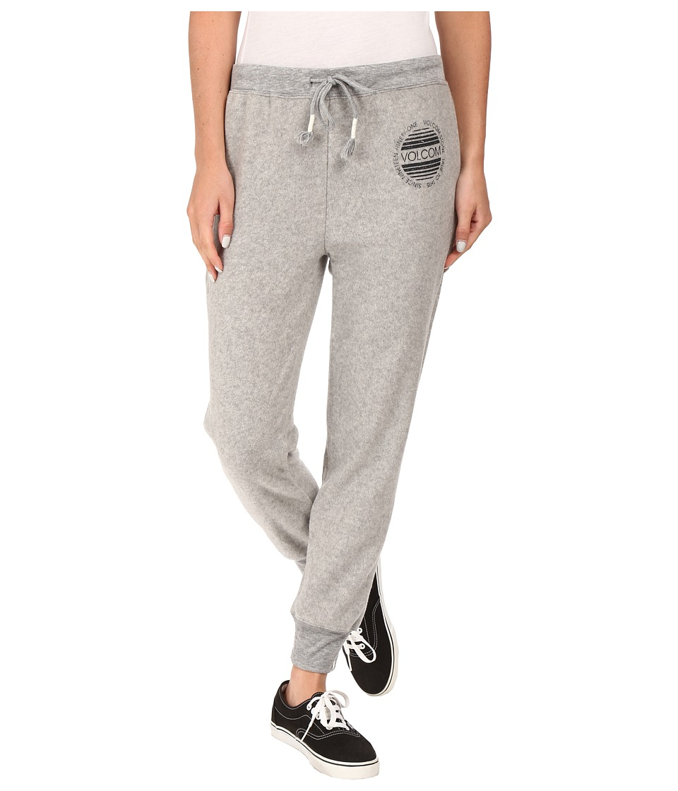 Volcom - Lived in Fleece Pants (Heather Grey) Women's Fleece