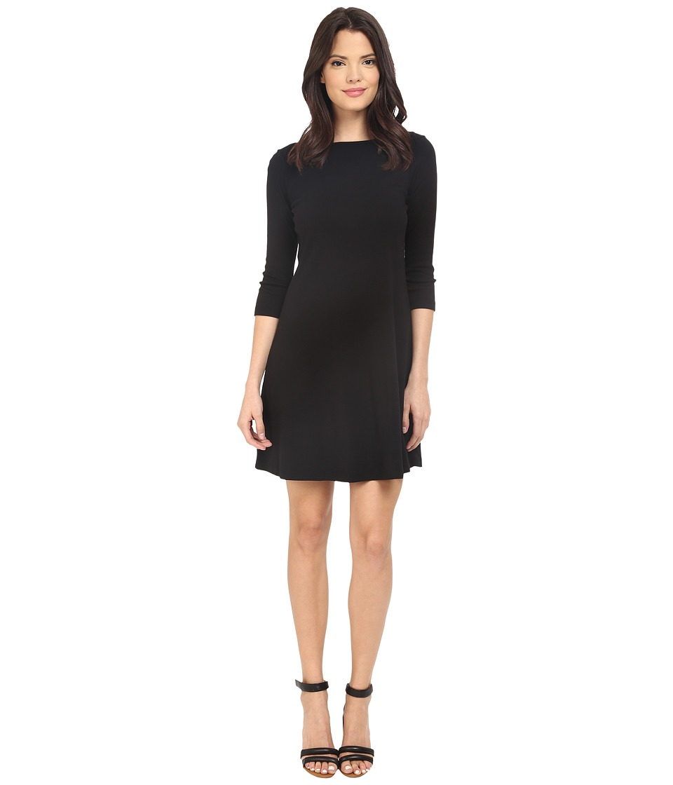 Three Dots - Trista British Dress (Black) Women's Dress
