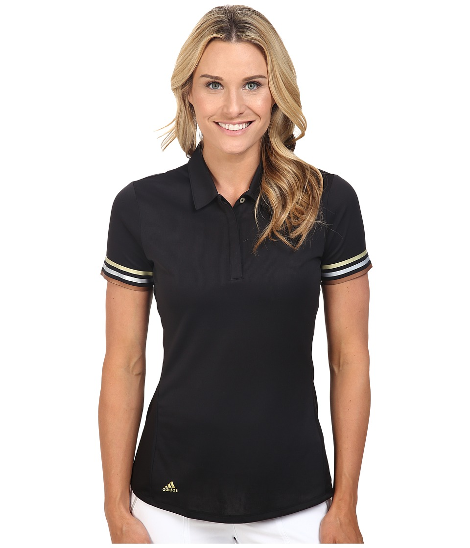 adidas Golf - World Game CLIMACHILL Traditional Short Sleeve Polo (Black) Women's Short Sleeve Pullover