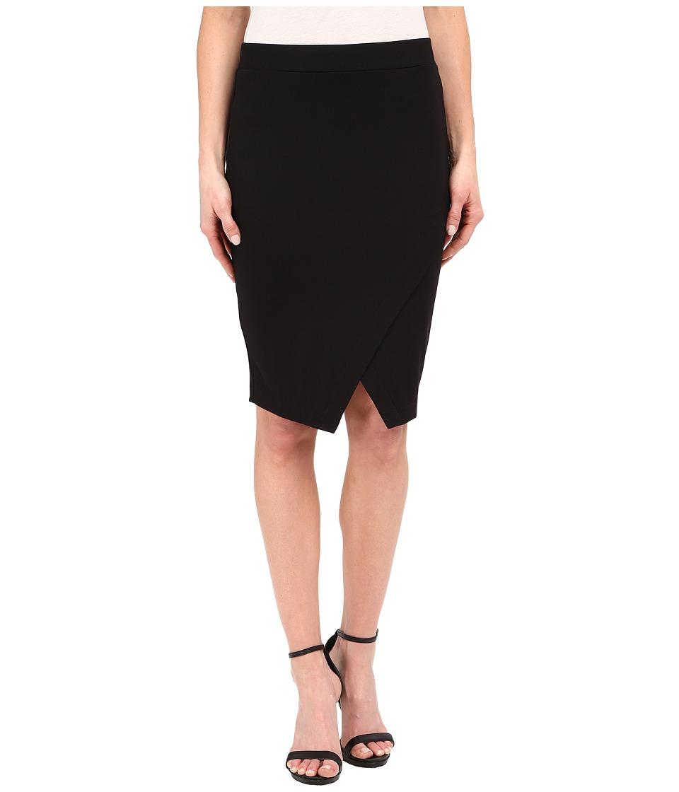 Three Dots Kyla Wrap Skirt (Black) Women