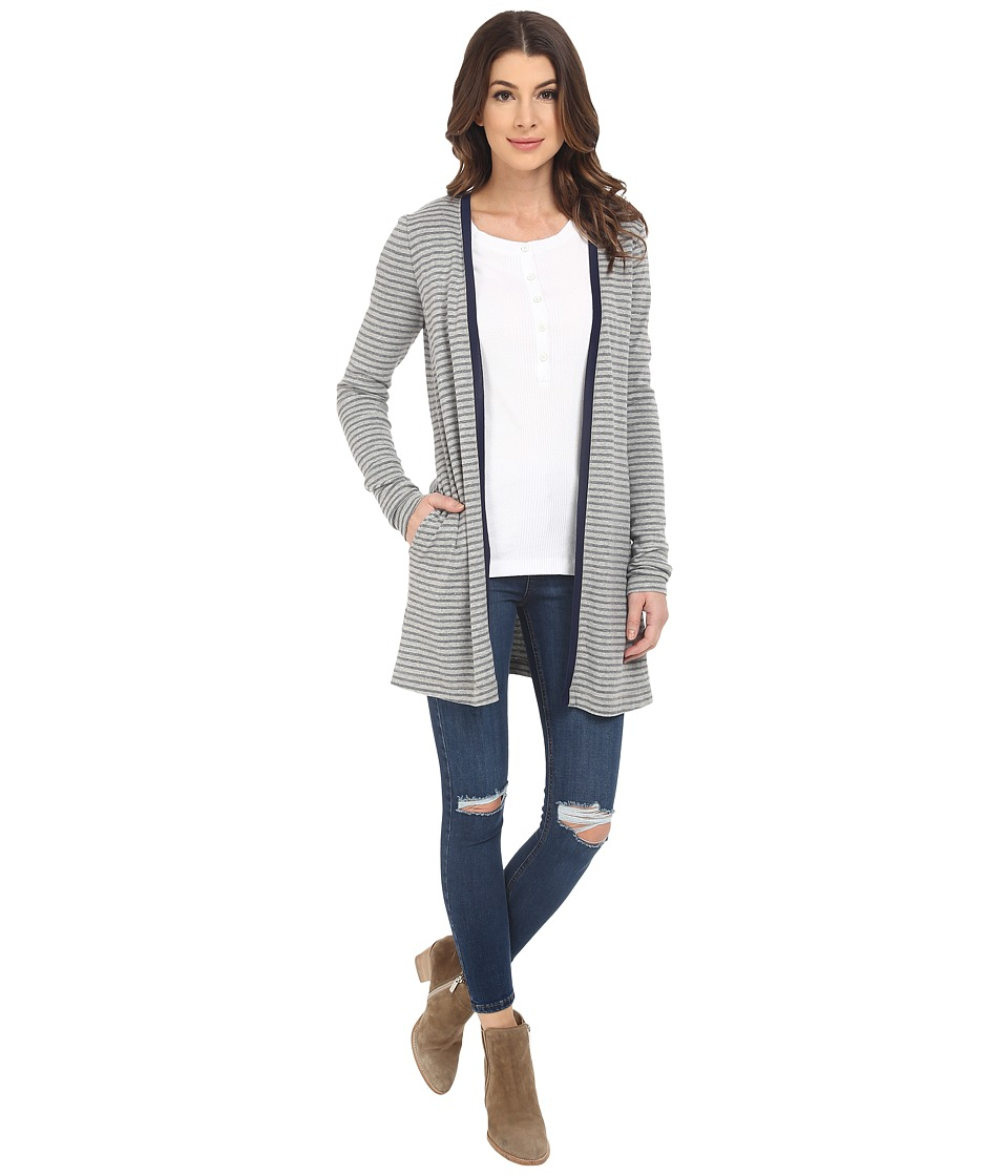 Three Dots - Maddie Cardigan (Granite/Navy) Women's Sweater