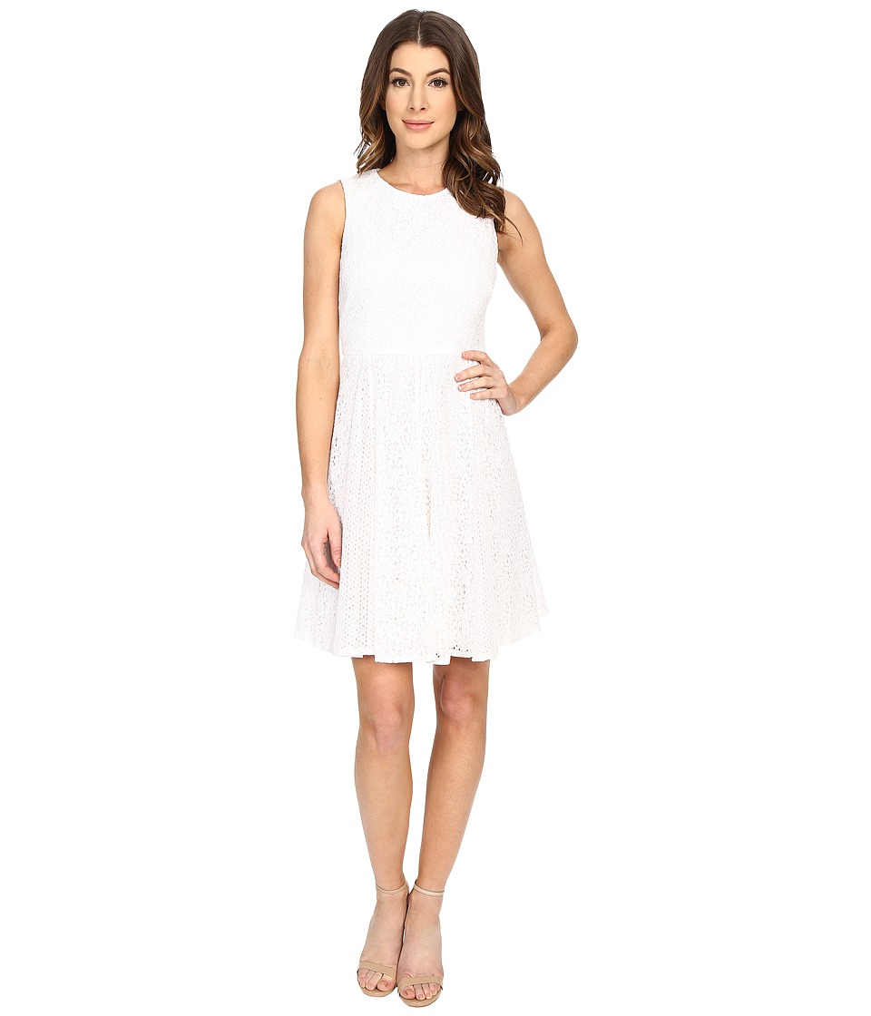 Maggy London - Box Lace Fit and Flare (White) Women's Dress