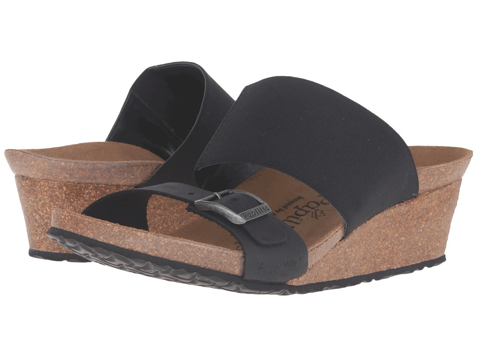 Birkenstock Della (Black Stretch Leather) Women