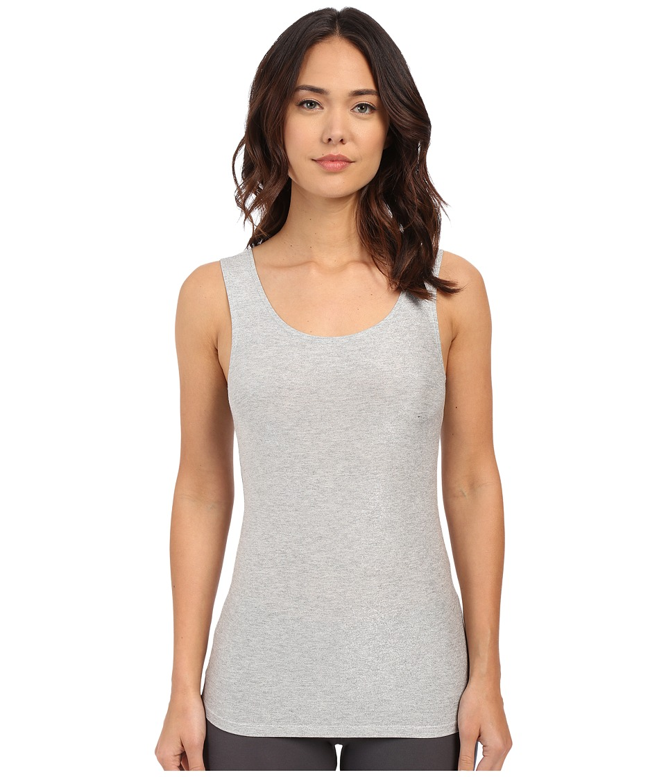 Only Hearts - Metallic Jersey Low Back Shell (Grey Silver) Women's Sleeveless