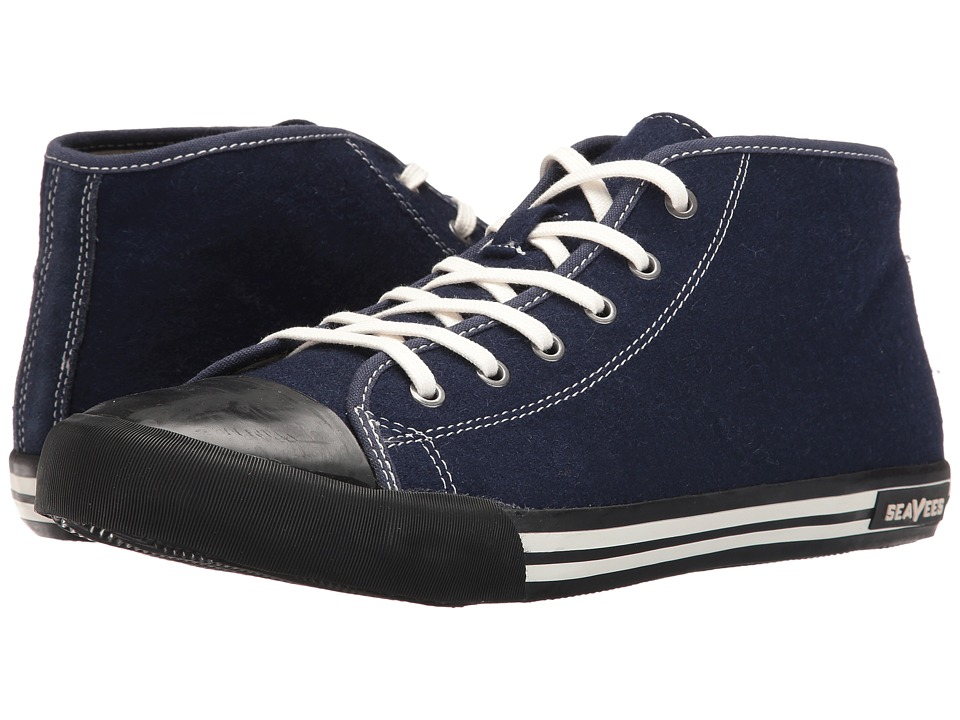 SeaVees - 04/67 White Walls Wintertide (Deep Navy) Men's Shoes