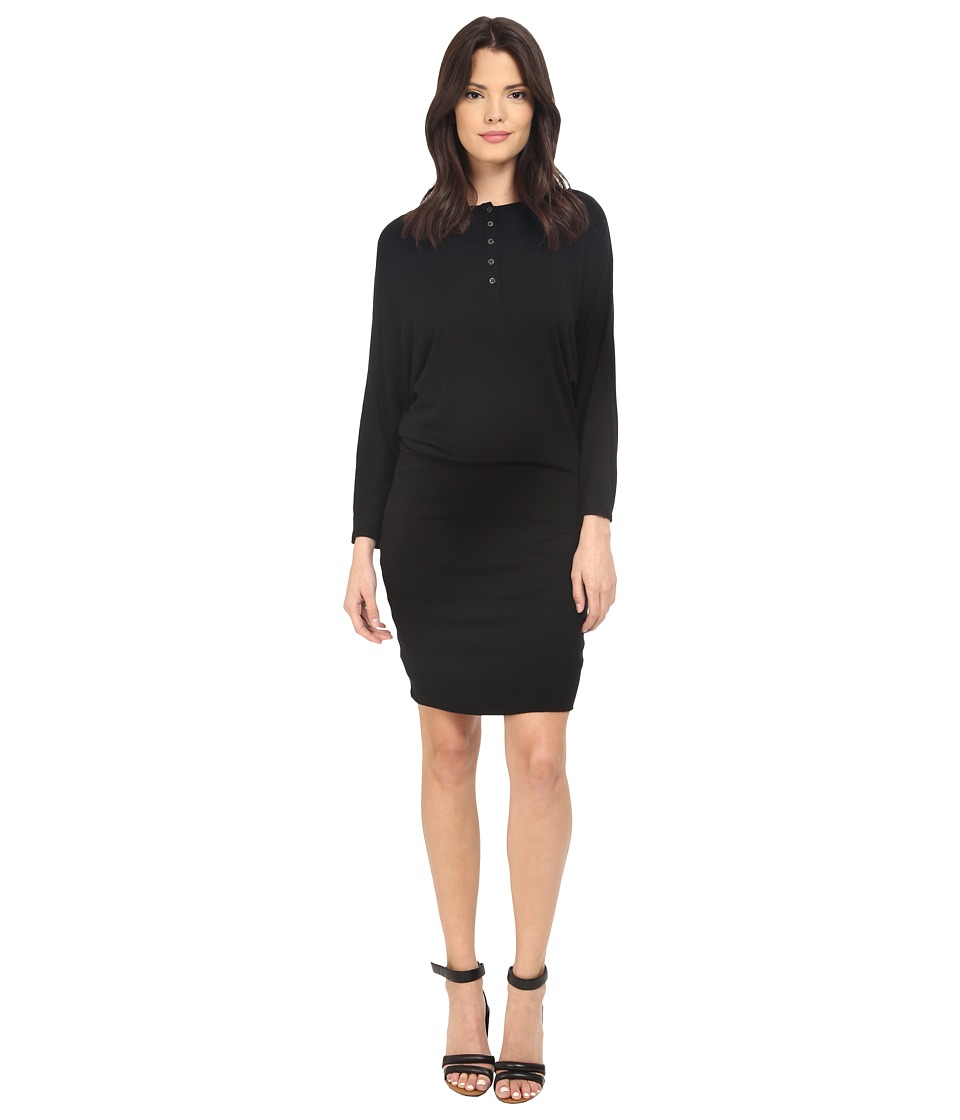 Three Dots Keara Dolman Sleeve Dress (Black) Women