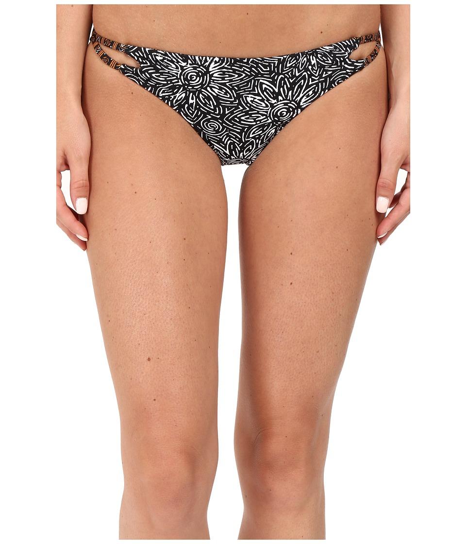Volcom - Henna Spirit Reversible Full Bottoms (Black) Women's Swimwear