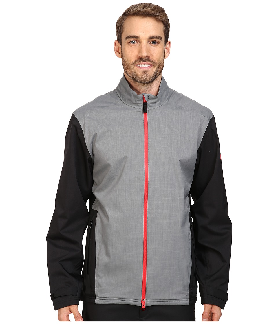 adidas Golf - CLIMAPROOF Heather Stretch Full Zip Jacket (Vista Grey/Black) Men's Coat
