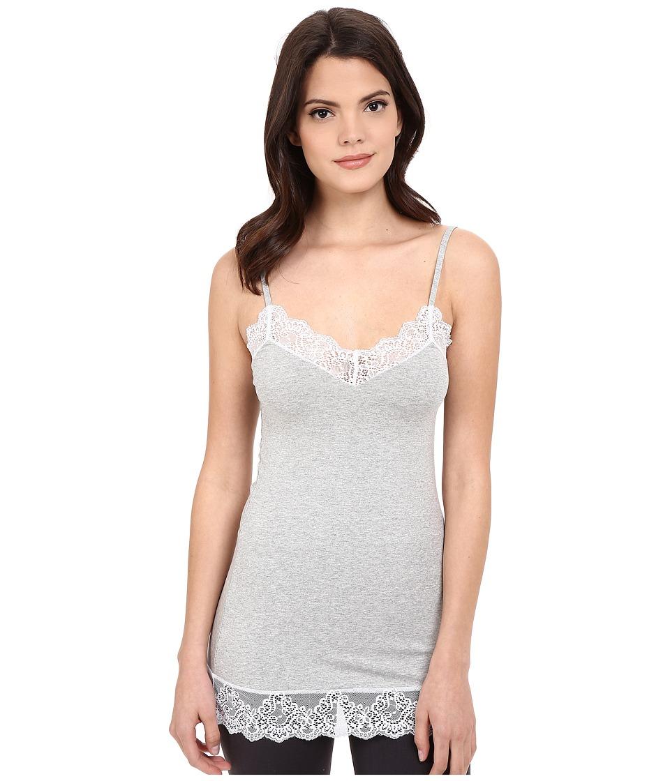 Only Hearts - So Fine w/ Lace Chemette (Heather Grey/White) Women's Pajama
