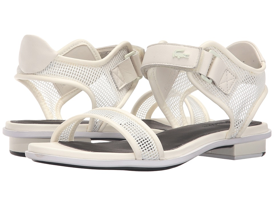 Lacoste - Lonelle Low Sandal 216 2 (Off-White/Black) Women