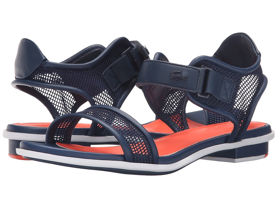Lacoste - Lonelle Low Sandal 216 2 (Navy/Orange) Women