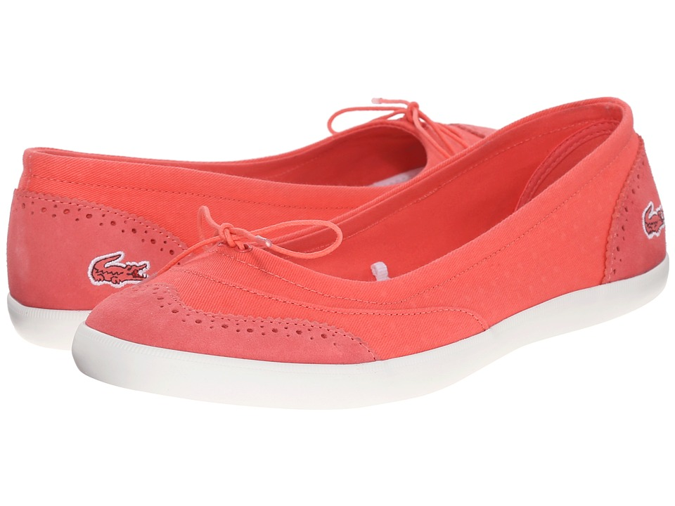 Lacoste - Loxia 216 1 (Light Red) Women's Slip on Shoes