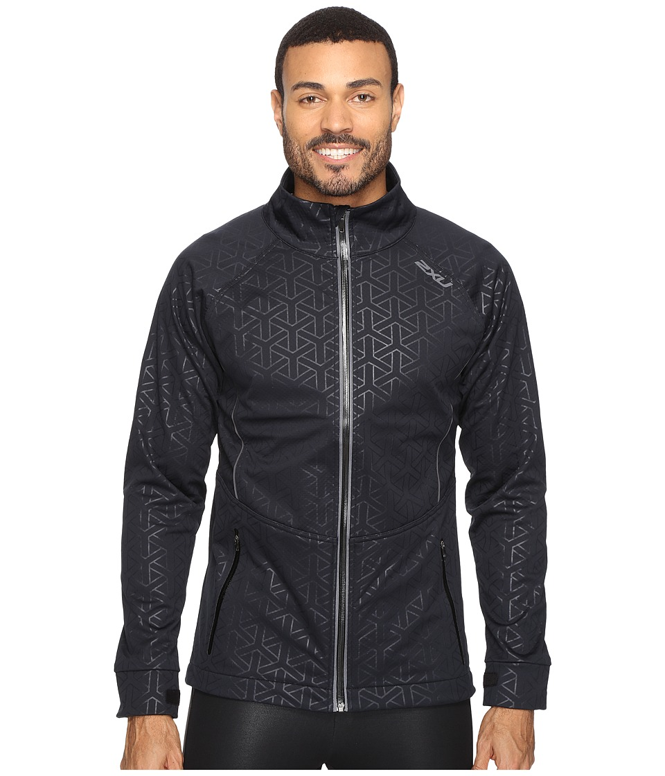 2XU - 23.5 N Jacket (Embossed Black Weave/Ombre Blue) Men's Coat