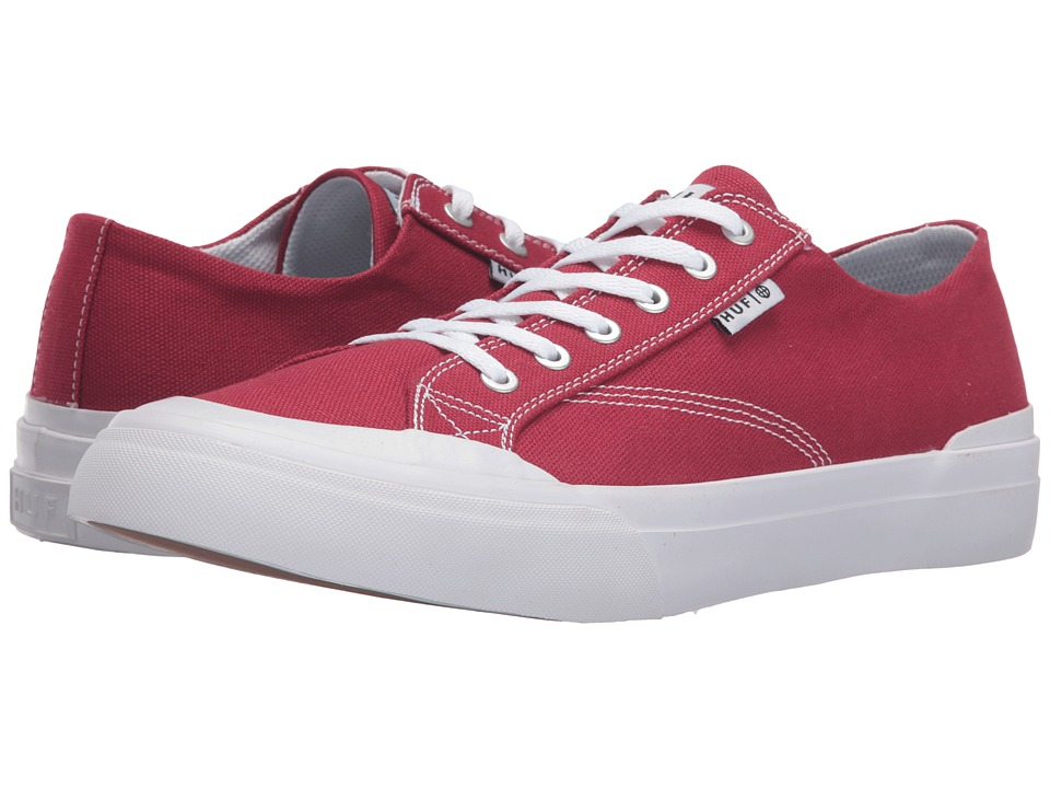 HUF - Classic Lo Ess TX (Red) Men's Skate Shoes