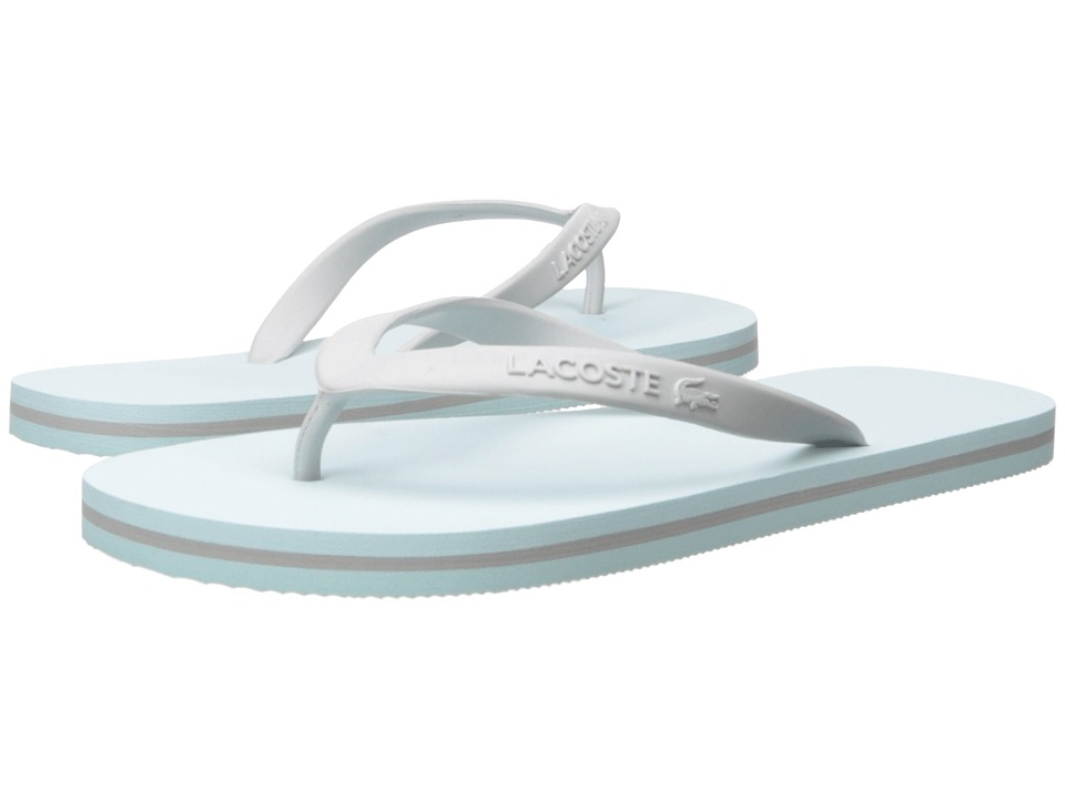 Lacoste - Ancelle Slide (Light Blue/Light Grey) Women's Sandals
