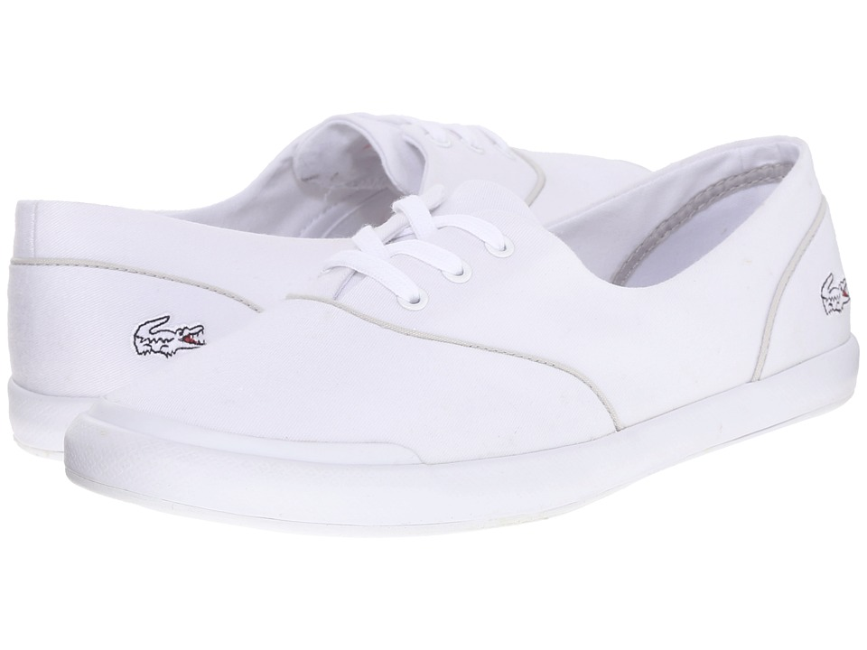 Lacoste - Lancelle Lace 3 Eye 216 2 (White/Light Grey) Women's Lace up casual Shoes