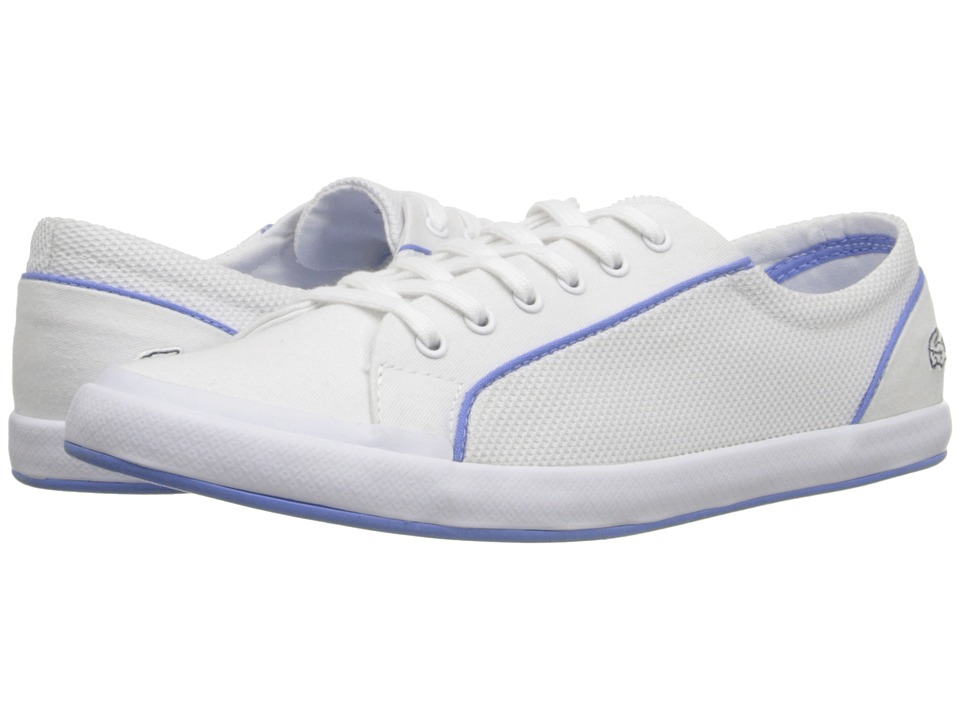 Lacoste - Lancelle Lace 6 Eye 216 2 (White) Women's Lace up casual Shoes