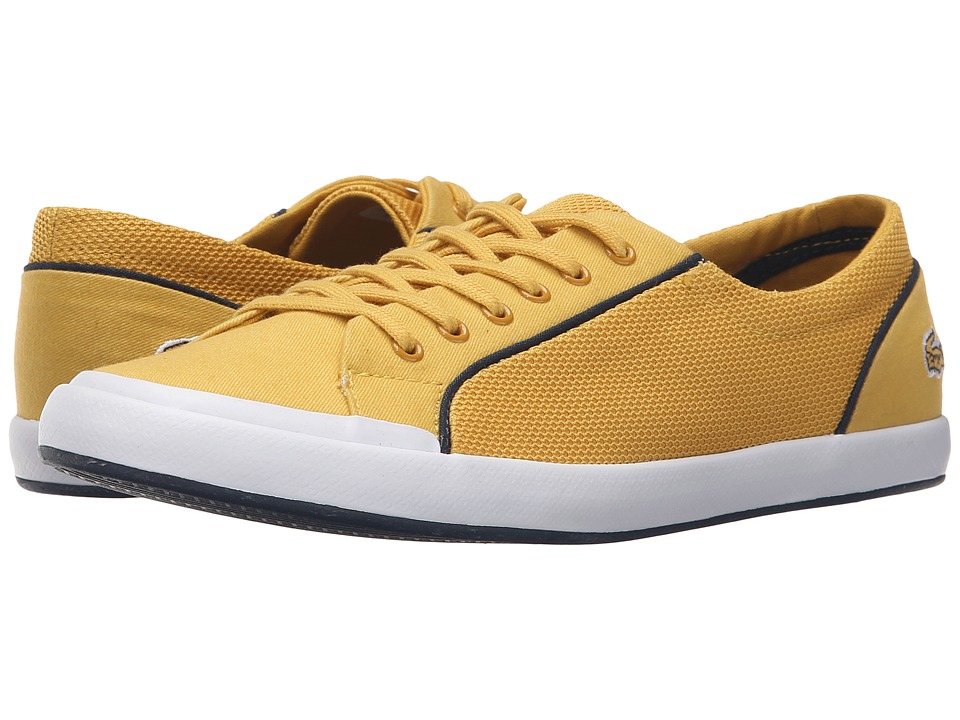 Lacoste - Lancelle Lace 6 Eye 216 2 (Yellow) Women's Lace up casual Shoes