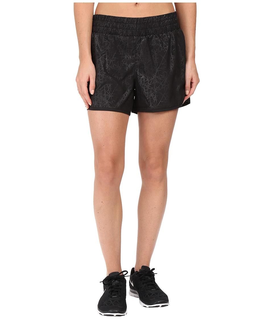 2XU - Flex 5 Shorts w/ 105D Compression Shorts (Embossed Black Vein/Black) Women's Shorts