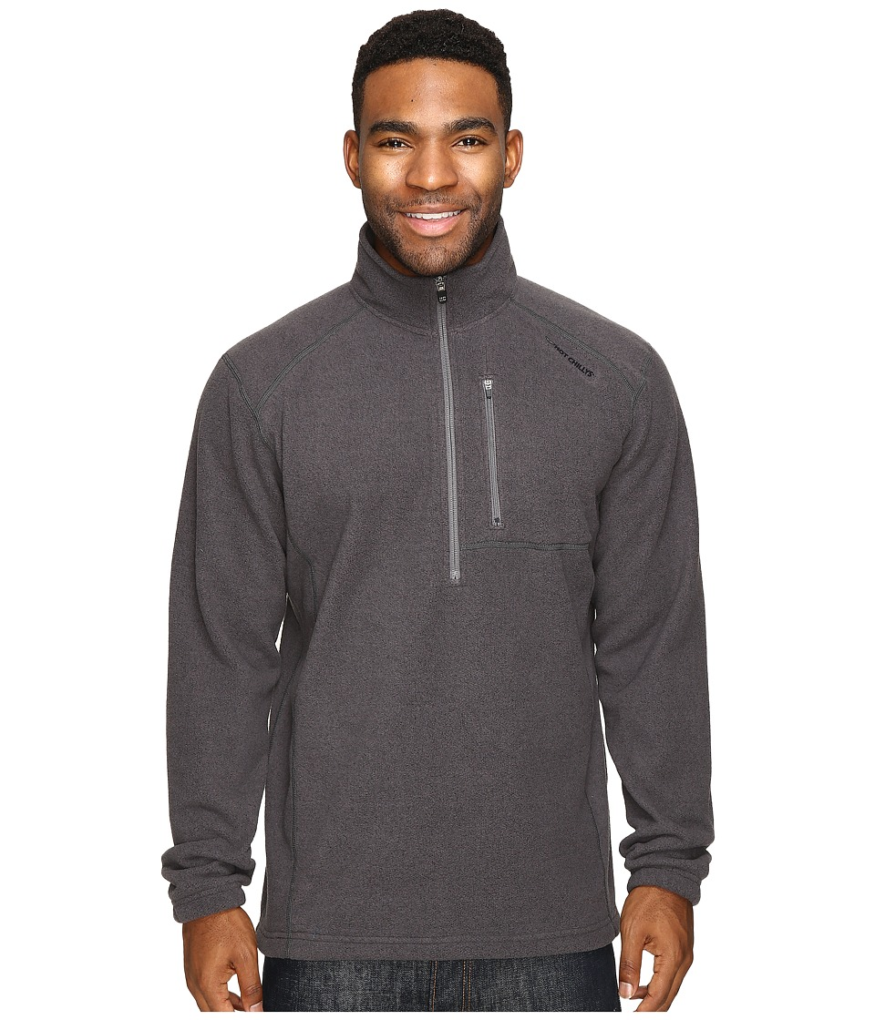 Hot Chillys - Baja Pocket Zip-T (Charcoal) Men's Clothing