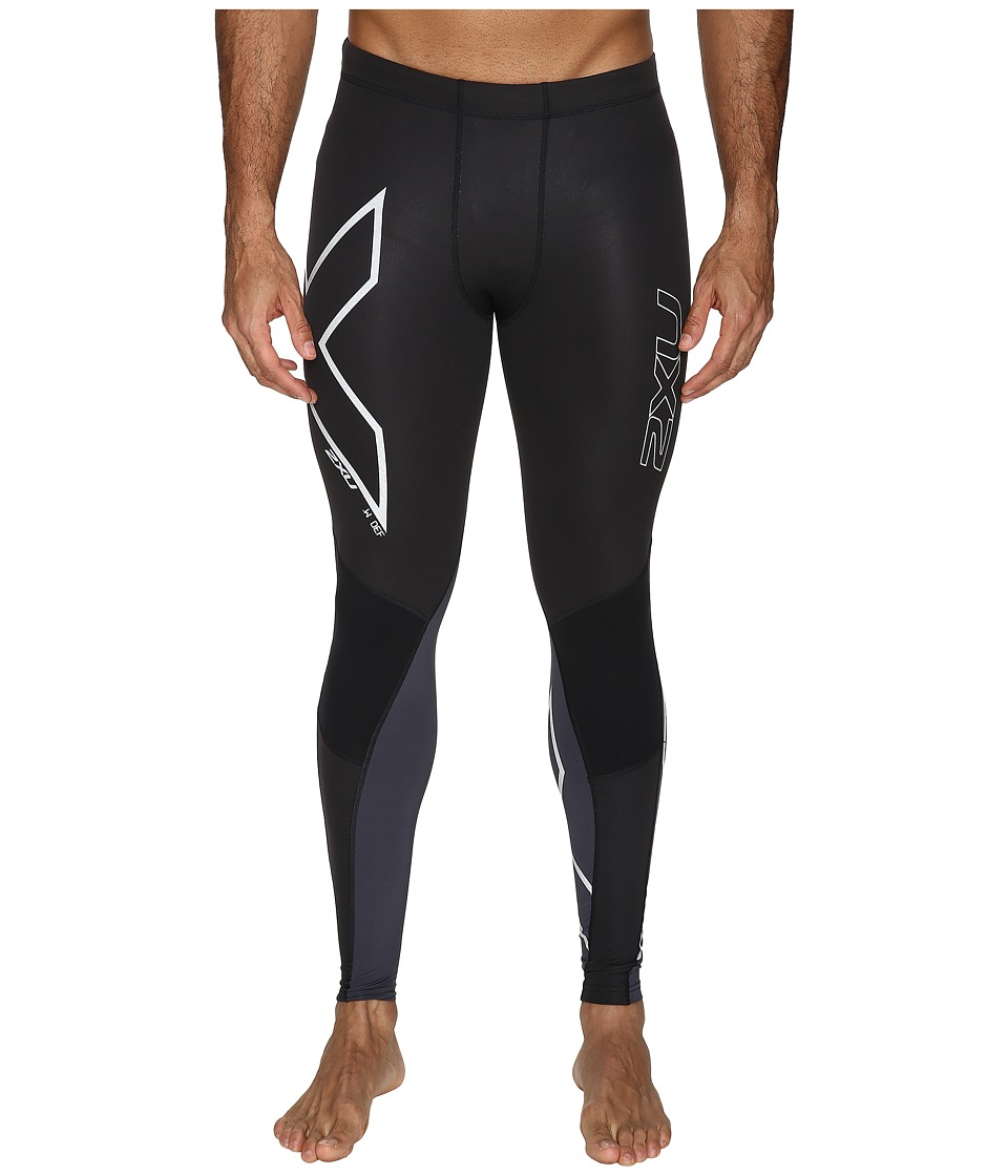 2XU - Wind Defence Compression Tights (Black/Steel) Men's Workout