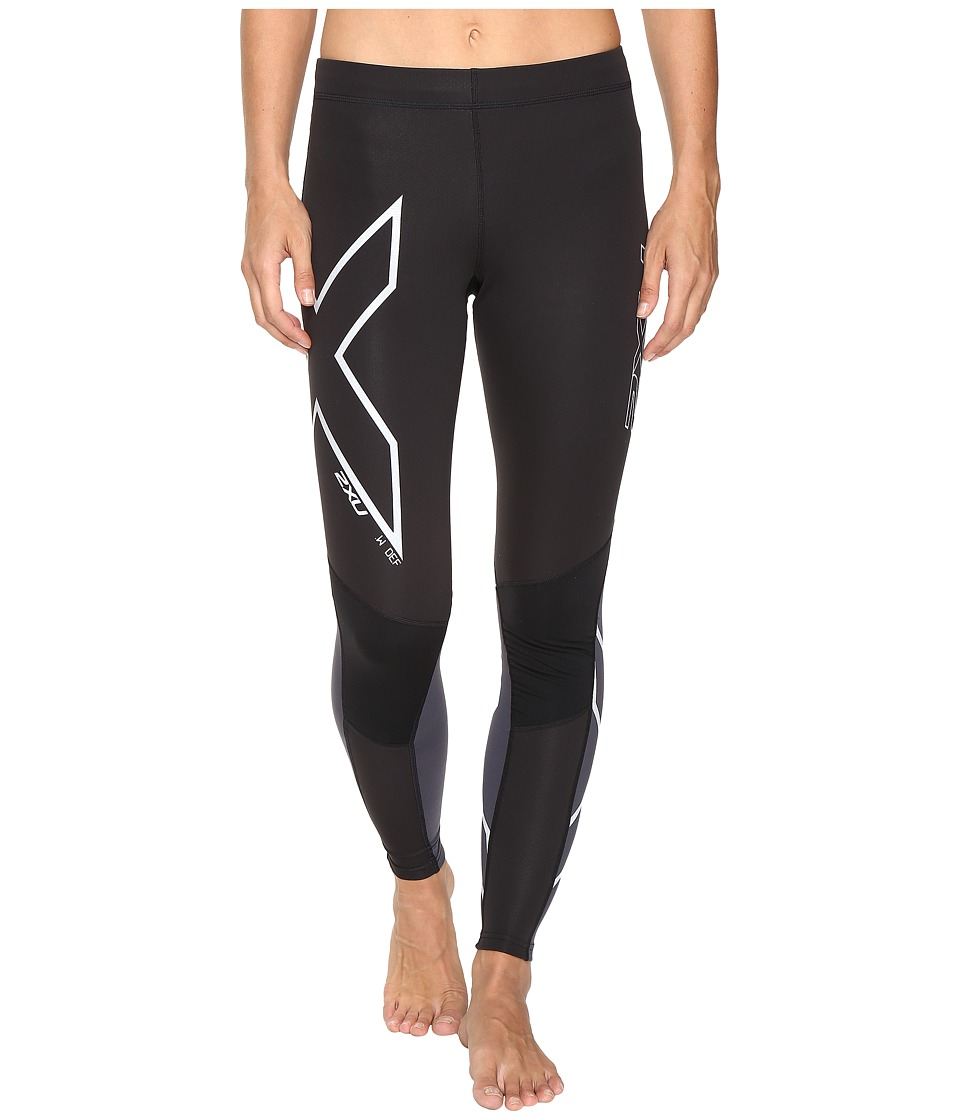 2XU - Wind Defence Compression Tights (Black/Steel) Women's Workout