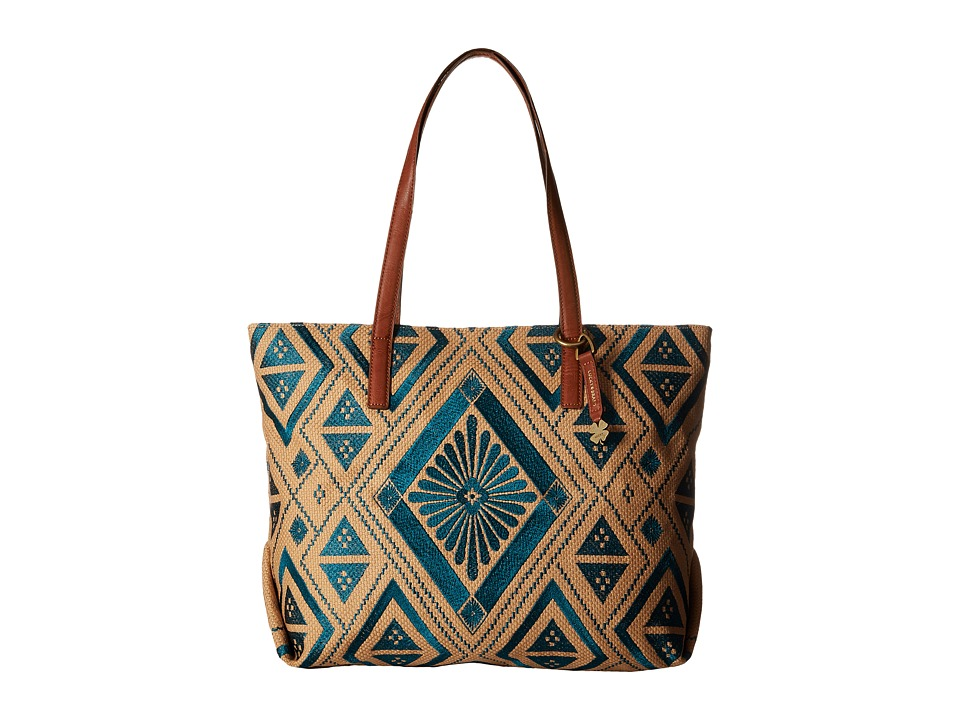 Lucky Brand - Cassis Top Zip Tote (Turquoise) Top-Zip Handbags