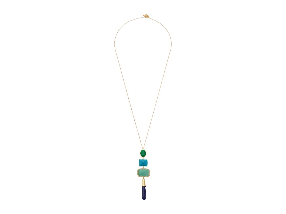 Karen Kane - Into The Night Statement Pendant Necklace (White) Necklace