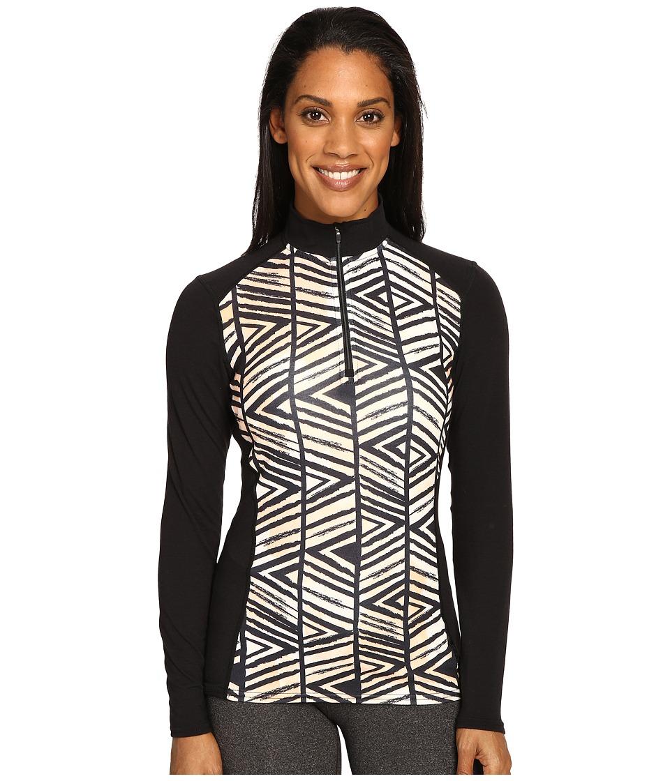 Hot Chillys - MTF Print Zip-T (Voodoo/Black) Women's Long Sleeve Pullover