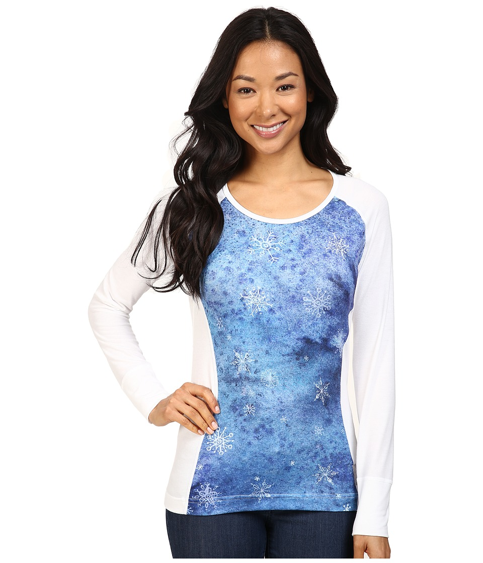 Hot Chillys - MTF Sublimated Print Scoop Neck Top (Flurry/White) Women's T Shirt