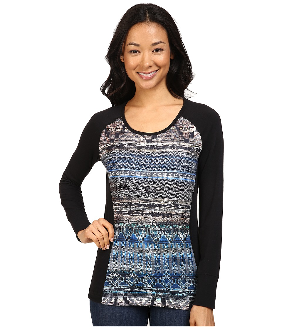 Hot Chillys - MTF Sublimated Print Scoop Neck Top (Serenity/Black) Women