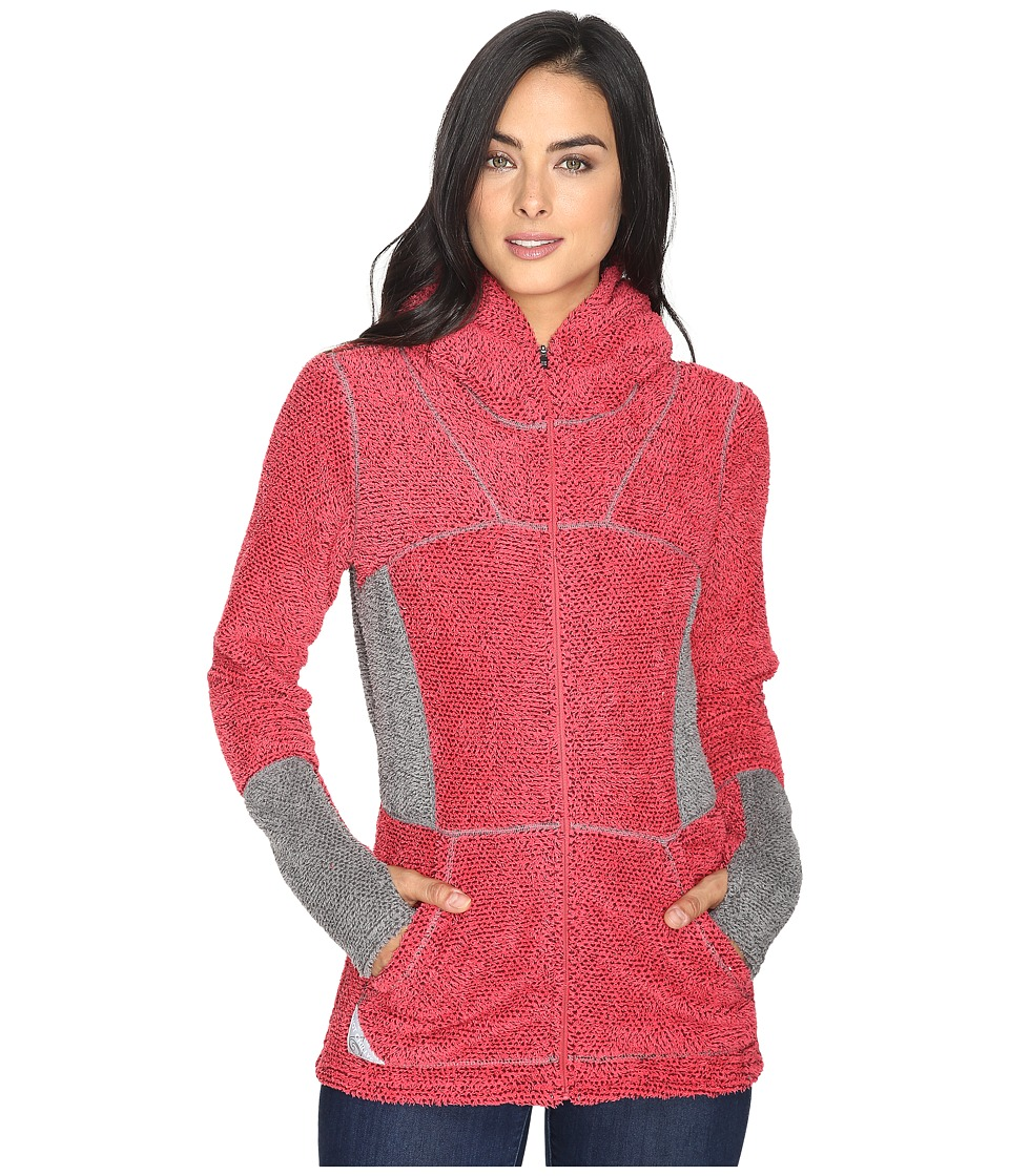 Hot Chillys - Pico Full Zip Hoodie (Rose) Women's Sweatshirt