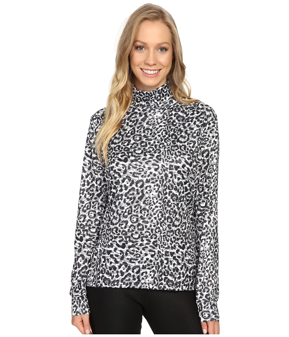 Hot Chillys - Peach Print T-Neck (Snow Leopard) Women's Clothing