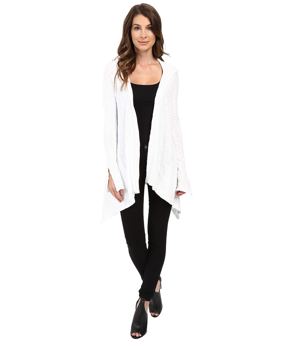 LAmade - Dani Hooded Cardi (White) Women's Sweater