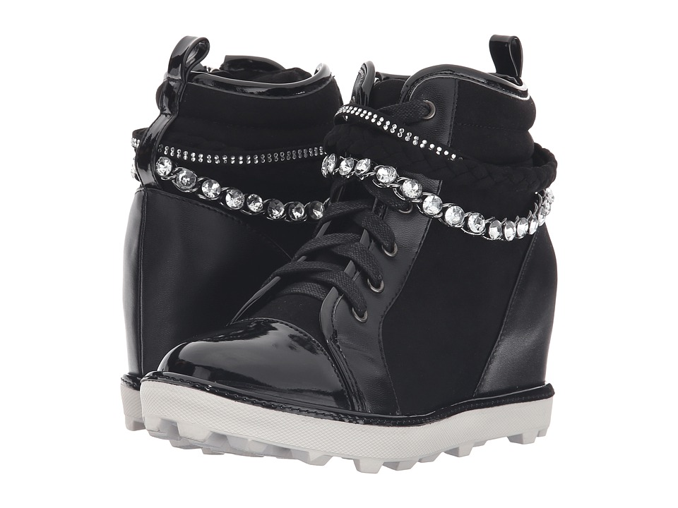 Stuart Weitzman Kids - Ariana Chain (Little Kid/Big Kid) (Black) Girl's Shoes